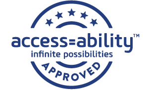 Access=Ability Infinite Possibilities Stamp of Approval
