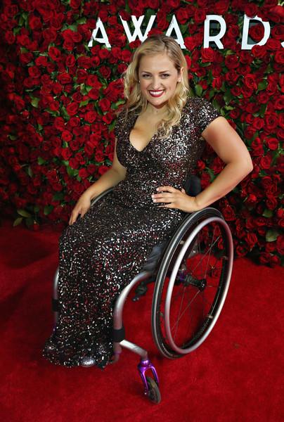 Actress Ali Stroker poses for photo at Tony Awards 2019