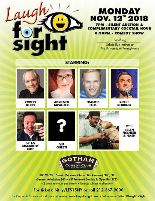 Laugh for Sight poster. Full text description in this article