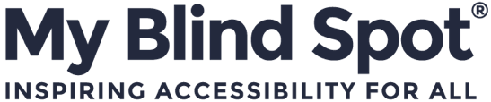My Blind Spot logo - Inspiring Accessibility for ALL